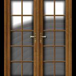 French Door in Goldenoak with georgian bars