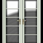 French Door white foil vertical georgian bars