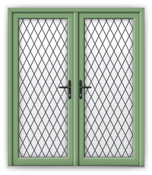 French heathfield windows for Green french doors