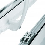 White Window Handle